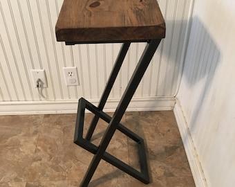 "25"" bar stools, metal and wood bar stool, modern stool, kitchen stool, counter stool,"