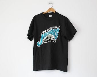Vintage Black Jacksonville Jaguars Football T Shirt