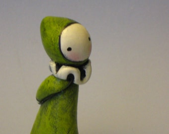 Whatcha Doin Silly Human?- A mini Poppet by Lisa Snellings