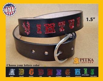 Western Belts - Men's Western belts - Handmade Leather Belts - Personalized Black Leather Belts - Cool Leather Belts- Womens Custom Belts