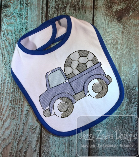 Truck with Soccer Ball Sketch Embroidery Design - truck Sketch Embroidery Design - soccer Sketch Embroidery Design - boy Sketch Embroidery