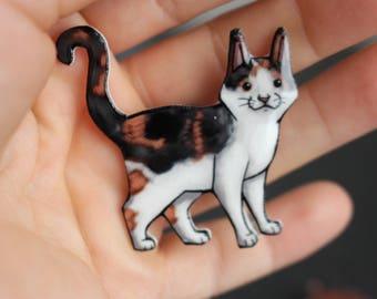 Calico Cat Magnet: great gift for cat lover for locker fridge or car Calico loss memorial