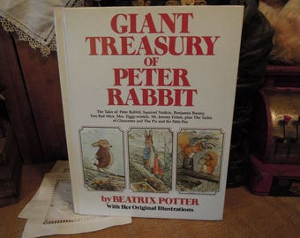 Giant Treasury of Peter Rabbit by Beatrix Potter / Original Illustrations 1980 Hc / Vintage Childrens Book