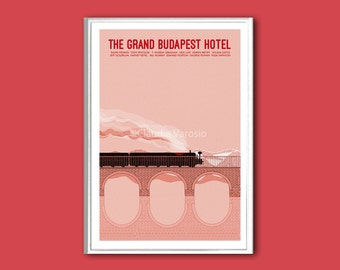 The Grand Budapest Hotel movie print in various sizes