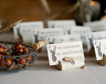 Rustic Birch Branch Place Card/Escort Card Holders- Set of 10