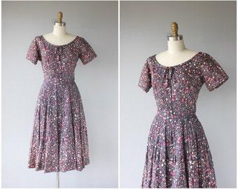 1950s Party Dress   50s Dress   50s Party Dress   1950s Printed Dress   Purple and Pink 1950s Dress   1950s Polka Dot Dress