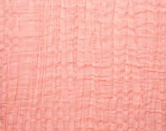 Embrace Double Gauze Fabric in Solid Embrace Coral -100% Cotton Muslin fabric by the yard