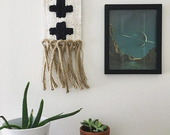 Double Swiss Cross Rope Woven Wall Hanging