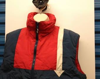 Vintage colorblock vest mens Large arrow outdoors