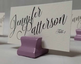 Cute Curves Weighted Place Card Holder - Wisteria (Sample Quantities)