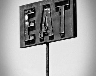 Eat - Fine Art Photographic Print - Black and White
