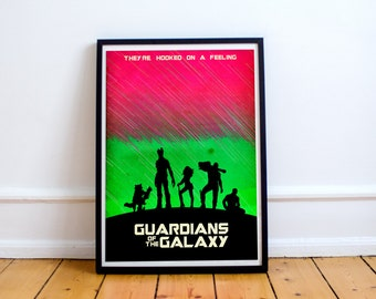 Guardians Of The Galaxy Poster - Minimalist Art Print  - Marvel - Starlord (Available In Many Sizes)