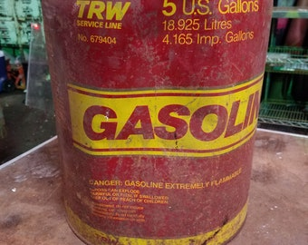 Vintage 5 Galon Gas Can