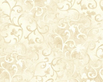 Cream Scroll Fabric Quilting Fabric by the yard Quilt Cotton Sewing Fabrics 89025 101 Farmhouse scrolls quilts