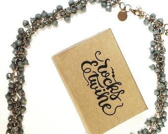 Bead Necklace / Green Jewelry / Bib Necklace / Statement Jewelry / Boho/ Fancy