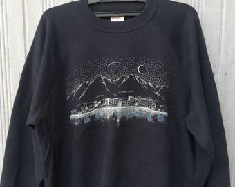 Vintage 80s Las Vegas Art Graphic Sweatshirt