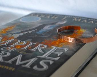 """Bracelet: """"Fireheart"""" inspired by Throne of Glass"""