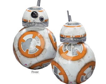 """BB8 Balloon, Star Wars Party, 33"""" The Force Awakens BB8 Balloon, Star Wars Movie Party, Star Wars Party Favors, Star Wars Party Decor"""