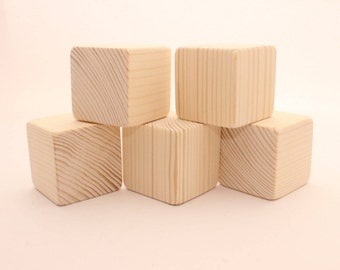 Unfinished wooden blocks | 2 "