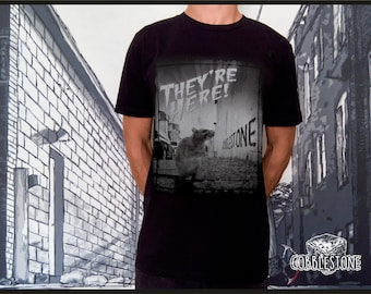 """T-shirt """"they're here"""" fair trade & organic"""