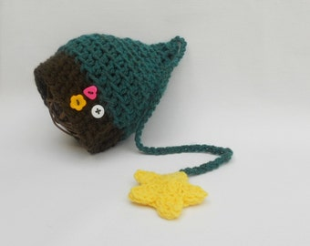 Ready to Ship Newborn Hat Baby Boy Girl Unigender Photo Prop Munchkin Stocking Cap Long Tail In Stockbaby First Christmas Hat