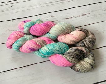 Hand Dyed Superwash BFL/ Nylon Sock Yarn