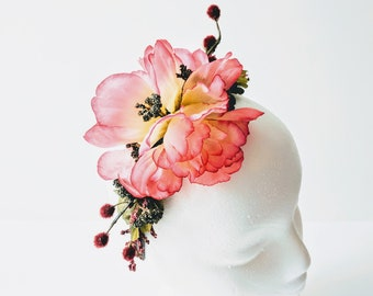 Floral Headpiece - One of a Kind Wedding Bridal Festival Crown