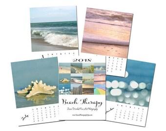 2018 Beach Photography Calendar 2018 nautical photo desk calendar 5x7, 4x6 with easel stand, hostess corporate bridesmaid mother gift idea
