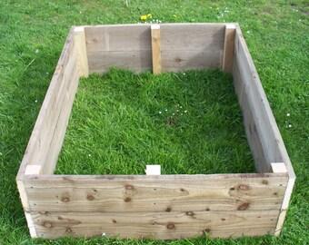 30cm high Tanalised wood Vegetable raised bed, herb planter, garden border