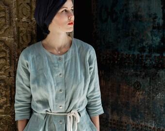 Women linen robe - Women bath robe - Linen bath robe - Spa robe - Womens robe - Blue robe - Gray robe - White robe - Linen robe - House coat