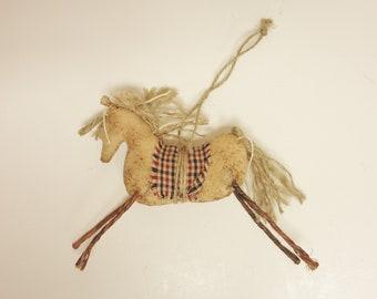 Primitive Horse Ornament - Ready To Ship, Horse Ornaments, Primitive Ornaments, Primitive Animals, Handmade Horses, Country Farmhouse Decor