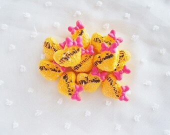 6pcs - Cute Kitschy Minnie Biscuit Cookie Sweets Decoden Cabochon (24mm) MKM010