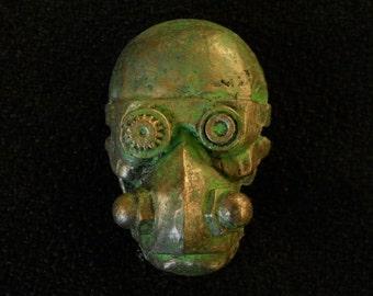 Steampunk Badge Skull Goggles Brooch Pin