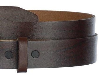 "Brown Oil Tanned Leather Belt Strap- Snap On- Men's Women's- USA- 1.5"" -29 30 31 32 33 34 35 36 37 38 39 40 41 42 43 44 45- More Belts Avail"