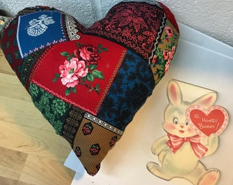 Valentine's Day Decoration - Heart Cushion - handmade pillow