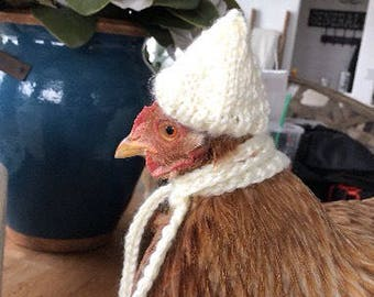 Two chicken hats in choice of colors