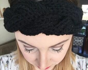 The Lark Earwarmer // Anthropologie Inspired Braided Crochet Earwarmer Womens Crochet Accessories Headband