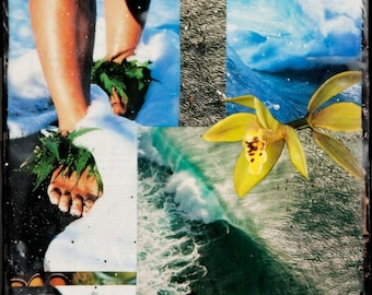 DREAMNG OF PIPE, Giclee, 8x8 and Up, Print on Canvas, Best Seller, Hawaii, black sand beaches, orchids, ocean art