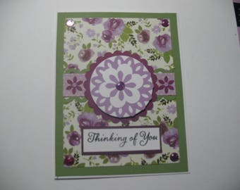 Pretty Purple Thinking of You Card