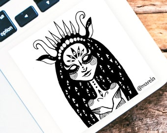 All Eyes On You sticker - vinyl sticker - laptop - phone case - decor - space art - psychedelic art - trippy