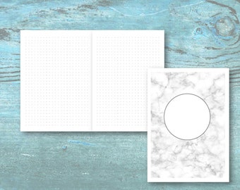 B6 Travelers Notebook PRINTABLE Insert | Dot Grid