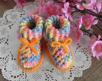 CROCHET PATTERN Booties Baby shoes - Alegria Baby crochet Shoes Pattern handmade baby booties Instant Download Baby crochet patterns boots