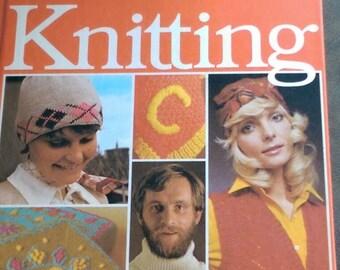 Golden Hands Knittting Pattern Book, Vintage Hard Cover, Volume 1,  Craft 1973, Instruction, How To, Ships worldwide