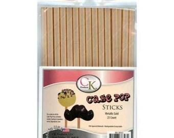 METALLIC GOLD  Cake Pop Sticks