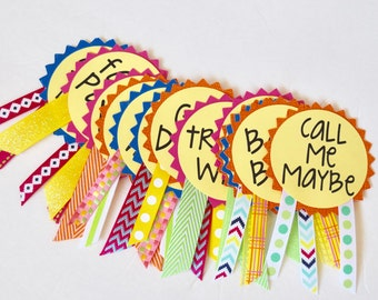 Fiesta Bachelorette Party Pins, Name Tags, Bachelorette Sash