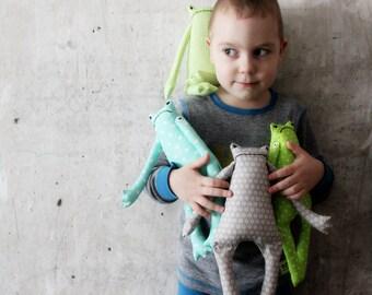 4 colors soft frog toy primitive safe stuffed frog 12' baby shower gift nursery decor