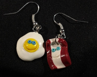 Bacon and Egg earrings