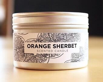 Orange Sherbet 8oz Soy Candle