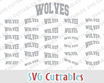 Wolves svg, Wolves layouts, svg, eps, dxf, Wolves mascot, svg cuttables, silhouette file, cricut cut file, digital download