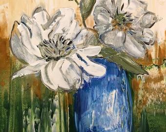 Peonies bouquet ( original )